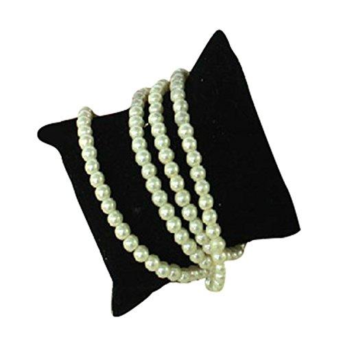 Jewelry Display Holder 10pcs Velvet Pillow Cushion Bracelet Watch Showcase