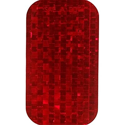 DOT SAE 2 Inch x 3.5 Inch Red High Visibility Reflective Stick on Reflector, 50 per Roll: Home & Kitchen
