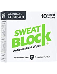 Sweatblock Antiperspirant For Men and Women - Clinical Strength Antiperspirant Wipes for Hyperhidrosis - Reduce Sweat Up To 7-days Per Us