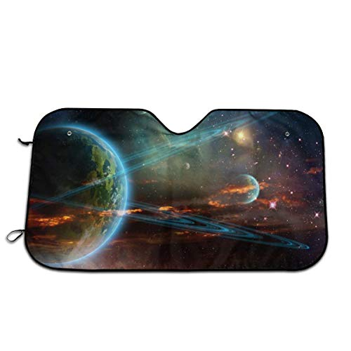 (Outer Space Planet Earth Mars Meteorite Comet Asteroid Heat Insulation Car Windshield Sun Shade- Keep Your Vehicle Cool-UV Ray Protector Sunshad for Car Auto Sedan Truck SUV)