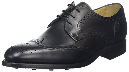 BARKER Herren Longworth Derbys Black (Black Calf)