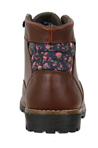 High Womens Trim Ankle w Gold Fashion Patterened Boot Discovery Outdoor Brown Expedition qp6OpnT