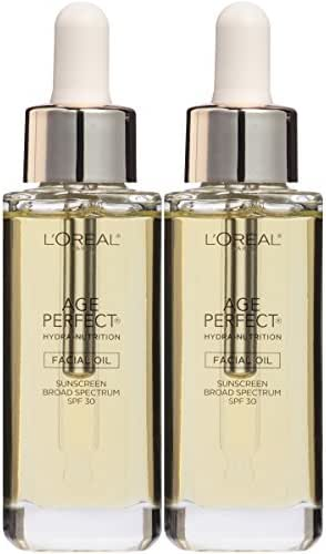 L'Oreal Paris Skin Care Age Perfect Hydra-Nutrition SPF 30 Facial Oil, 2 Count