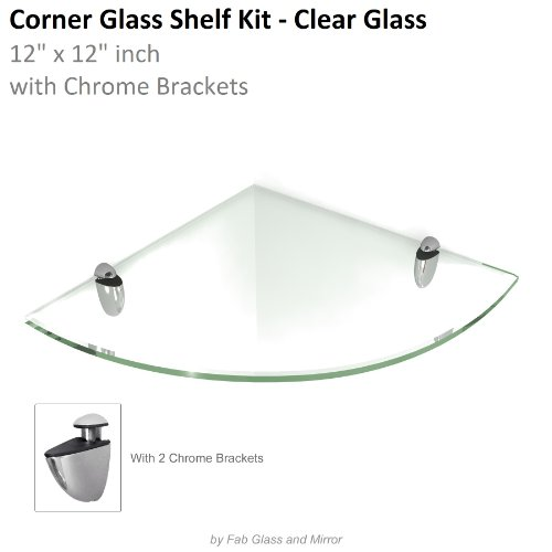 12 inch floating glass shelves - 9