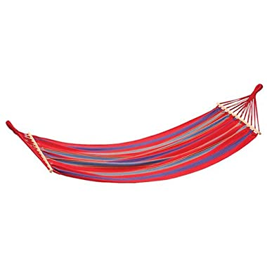 Stansport  Bahamas  Single Cotton Hammock (Length 78-Inch X Width 37-Inch, Red)