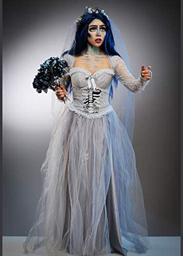 Delights Disfraz de Halloween de tamaño de Novia cadáver Adultos ...