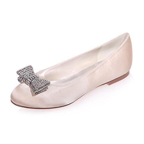 L@YC Zapatos De La Boda De Las Mujeres Round Head / Flat / Party Night 9872-25 Y MáS Colores Disponibles Champagne