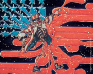 Uncle Sam//Stars and Stripes Grateful Dead Rock Music Band Sticker