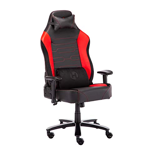 TECHNI SPORT Gaming Chair Collection - Office Chair - Gaming Computer Chair - Size XXL for Extra Support - Ergonomic & Adjustable - Lumbar Support Leather Gaming Chair (TSXXL, Red) Uncategorized