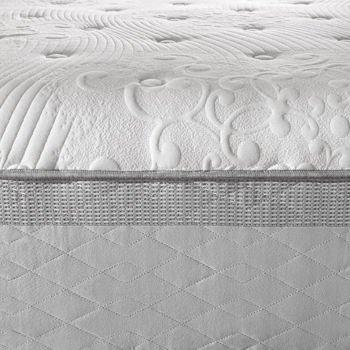 """Novaform 14"""" Comfort Grande King Memory Foam Mattress, 3"""" Gel Memory Foam, 3"""" Air Channel Foam, 8"""" Base Layer Foam"""