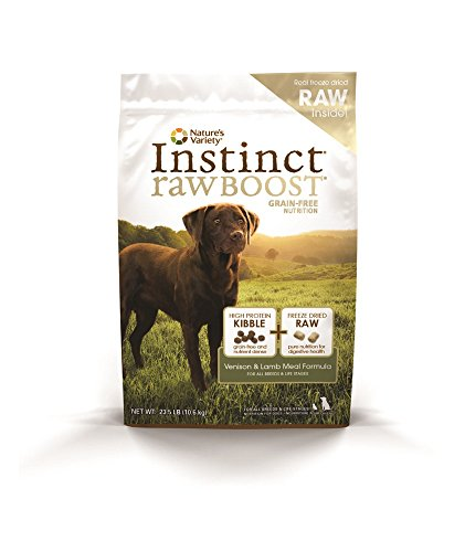Nature's Variety Instinct Raw Boost Grain Free Venison & Lamb Meal Formula Dry Dog Food, 23.5 lb. Bag