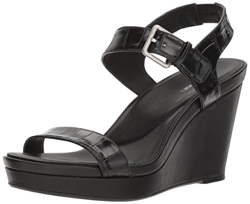 Calvin Klein Women's Jacie Sandal, Black, 5.5 Medium US by Calvin Klein
