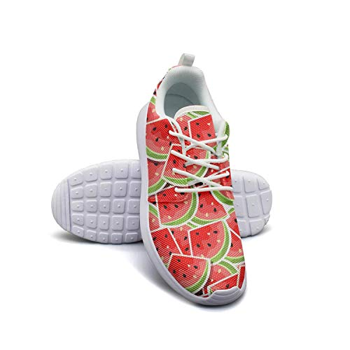 Hobart dfgrwe Watermelon Slices Fruit Women's Lady Flat Bottom Casual Shoes Designer Running Shoes