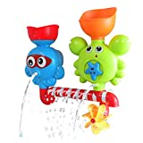 HERSITY Bath Tub Shower Game Waterfall Water Station Spray Toys with Suction Cups Kids Baby Toddler Gifts