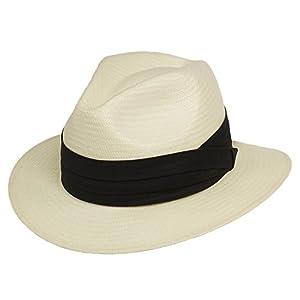Ultrafino Monte Cristo Straw Fedora Panama Hat