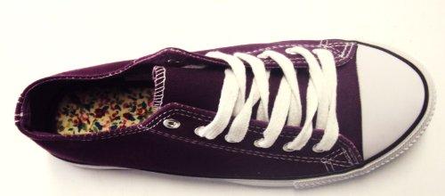 Dek - Zapatos de cordones de tejido para mujer multicolor color rosa y blanco morado