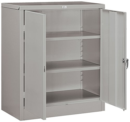 - Salsbury Industries Assembled Counter Height Storage Cabinet, 42-Inch High by 18-Inch Deep, Gray