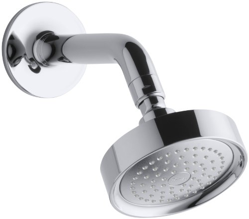 KOHLER K-14418-CP Purist Single-Function Showerhead, Arm and Flange, Polished Chrome
