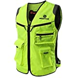 Reflective vest, motorcycle suit, reflective riding suit, traffic direction, reflective clothes vest, motorcycle, Ma Jianan (Color : JK30 upgrade, Size : L)
