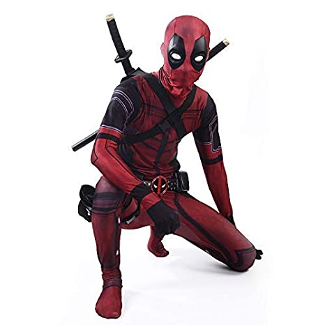 werty Cosplay Ropa Traje De Deadpool Cosplay Disfraz De ...