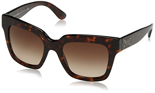 Dolce & Gabbana Women's Acetate Woman Square Sunglasses, Havana, 51 - Glasses Dolce