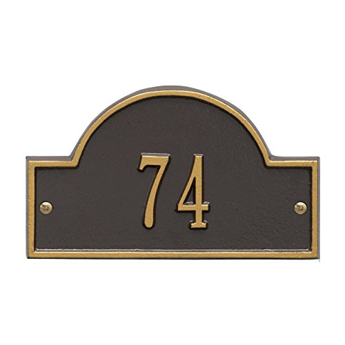 Arch Marker Wall (1 Line Arch Marker Petite Wall Address Plaque 8
