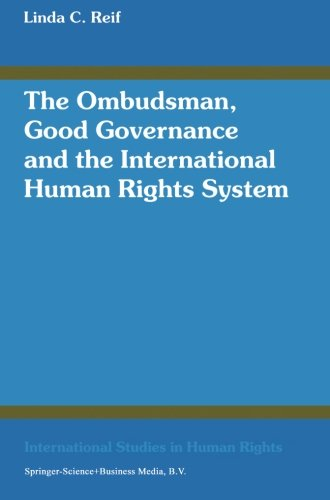 The Ombudsman, Good Governance and the International Human Rights System (Progress in Automation and Information Systems)