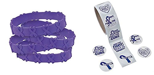 Purple Pop Out Bracelets Awareness Stickers product image