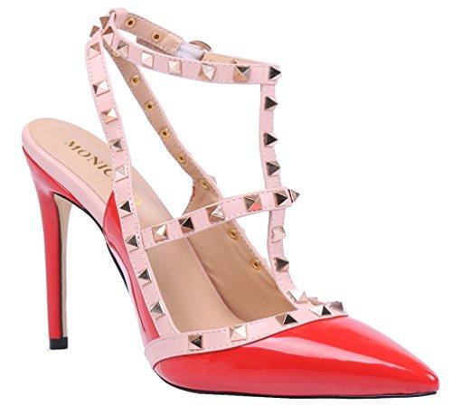 Lackleder Para 2015 Zapatos De Mujer Orangerot Vestir Monicoco 6v0wnCqw