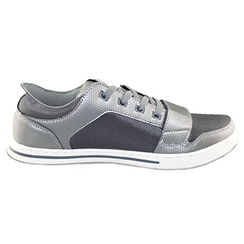 Crosshatch - Zapatillas para hombre gris