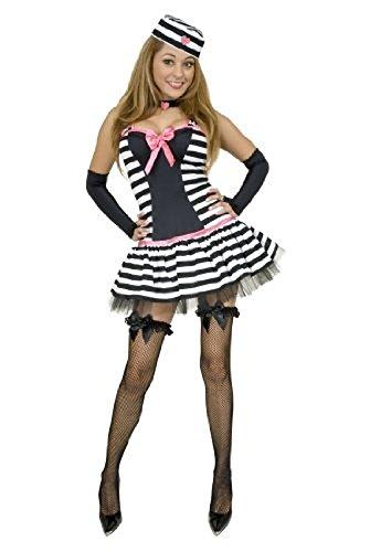 Prisoner Of Love Halloween Costume (Women X-Sm (3-5) - Prisoner of Love Costume)
