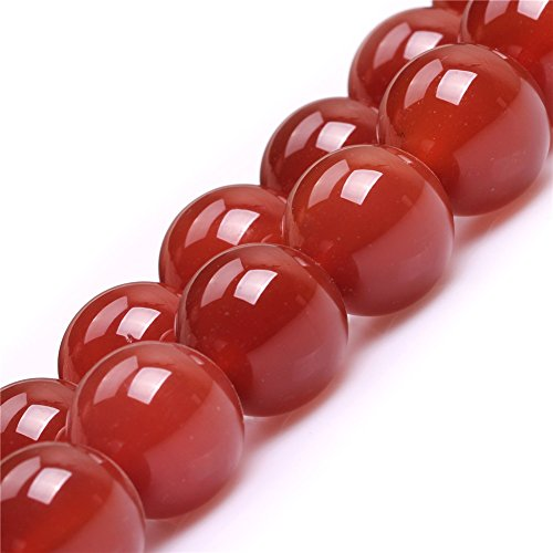 Red Agate Beads for Jewelry Making Natural Semi Precious Gemstone 18mm Round Strand 15