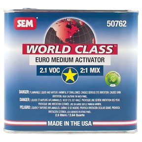 SEM 50762 World Class 2.1 VOC Euro Medium Activator - 2.5 Liter