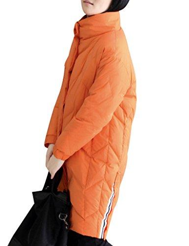 Donna Down Da Collo Con Youlee Cappotto Zipper Invernale 6axwvnt