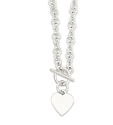 925 Sterling Silver Toggle Necklace - 4