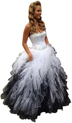 2a6e573ab224 Mollybridal Sweetheart Ruffles Ball Gown Wedding Dresses Tulle Crystals  Beaded Corset Back 2019