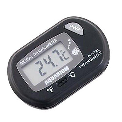 Black Measuring Aquarium LCD Digital Fish Tank Thermometer Temperature Meter