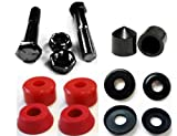 Complete Set of Replacement Skateboard Kingpins, Bushings, Washers & Pivot Cups Kit (Red)