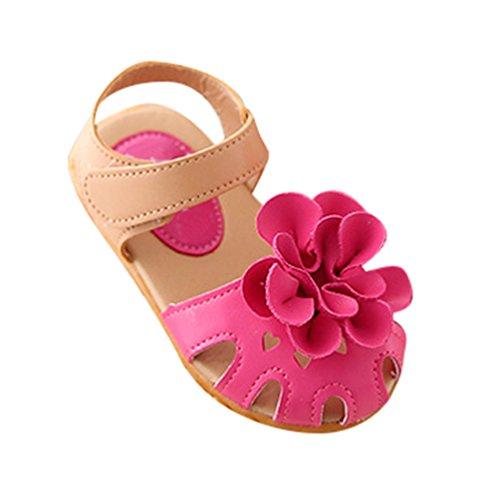 NiSeng Niños Zapatos Sandalias Bebe Sandalias De Flor Verano Chica Princesa Sandalias Rose