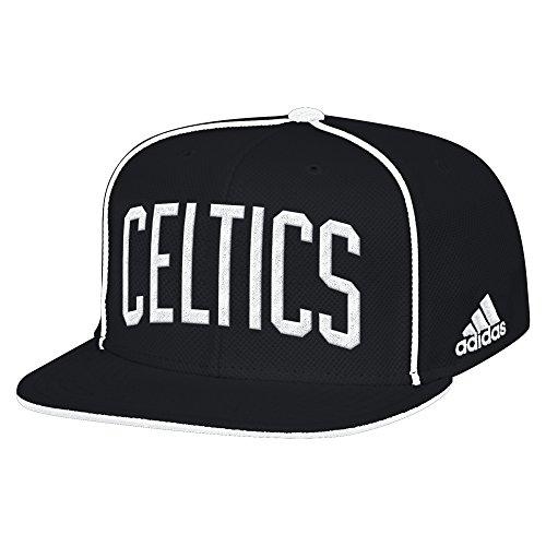 NBA Boston Celtics Men's Fanwear Team Flat Brim Snapback Cap, One Size, Black (Hats Celtics)