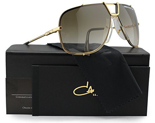 Cazal Targa Design 902 Sunglasses Shiny Gold w/Brown Gradient (097) 66mm - Cazal Sunglasses Vintage