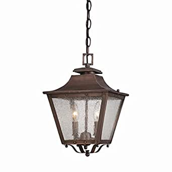 Acclaim 8716CP Lafayette Collection 2-Light Outdoor Light Fixture Hanging Lantern, Copper Patina