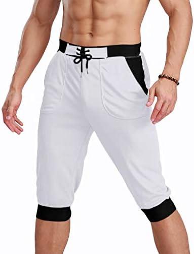 MAGCOMSEN Men's Joggers Workout Gym Running Mesh Shorts Quick Dry Lightweight Below Knee Sweatpants 1