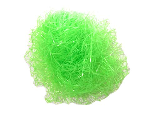 Easter Grass Basket Filler Party Decoration - Super Bright Neon Green - 3 Oz Total