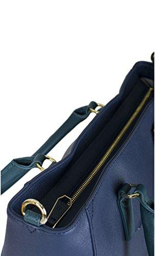 Borsa shopping Trussardi Jeans linea ischia blu Primavera Estate 2017 - 75B552XX , Blu Blu