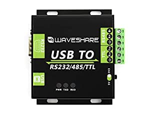 Waveshare USB to RS232 / RS485 / TTL Industrial Isolated Converter with Original FT232RL Embedded Protection Circuits and Aluminium Alloy Enclosure for Industrial Control Equipments (Color: USB TO RS232/485/TTL)