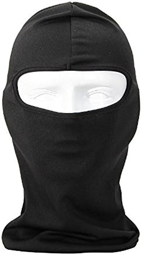 Black-1 Aoile 6 in 1 Thermal Fleece Balaclava Hood Police Swat Ski Bike Wind Stopper Face Mask