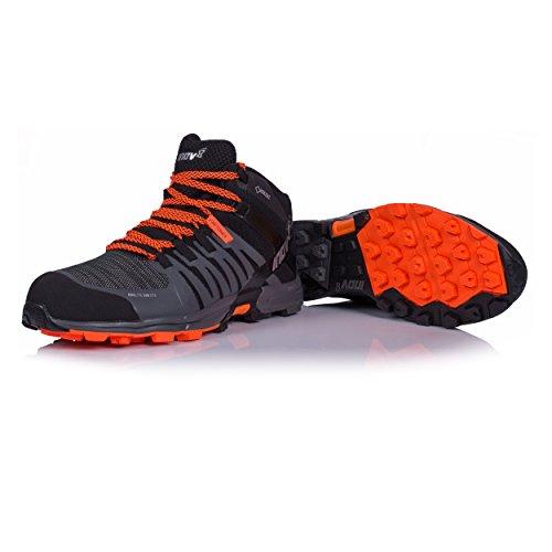 Inov-8 Mens Roclite 320 Gtx Trail Hardloopschoen - Zwart / Grijs / Oranje - 000716-bkgyor-m-01 Zwart / Grijs / Oranje