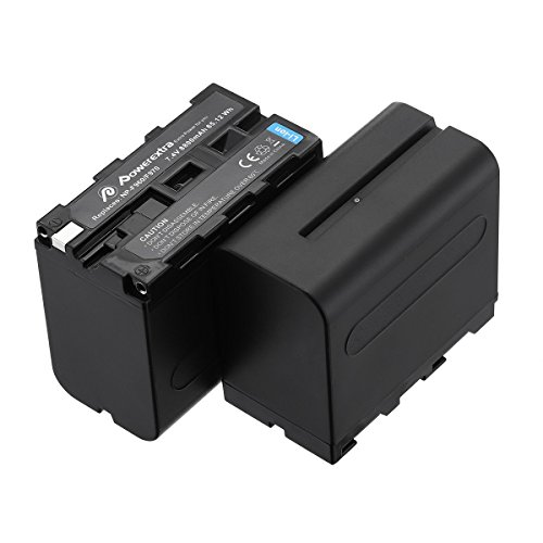 Powerextra 2 Pack Replacement Sony NP-F970 Battery Compatible with Sony DCR-VX2100, DSR-PD150, DSR-PD170, FDR-AX1, HDR-AX2000, HDR-FX1, HDR-FX7, HDR-FX1000, HVL-LBPB, HVR-HD1000U, HVR-V1U, HVR-Z1P 8800 Mah Lithium Ion Battery