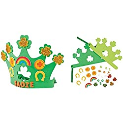 12 pack - St. Patricks Day Shamrock Crown Craft kits